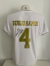 shirt signed autographs 4 Sergio Ramos Real Madrid CF home soccer jersey COA