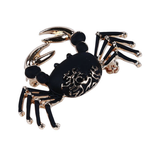 Vintage Enamel Brooch Drop Oil Crab Brooch Pin for Clothing Jewelry Accessory GA