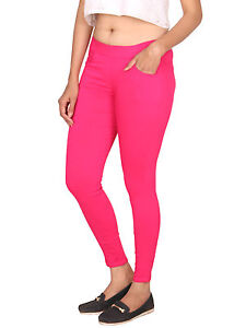 Vipakshi Women's Magenta Lycra Cotton Stretchable Stylist Jeggings (JE-15 J)