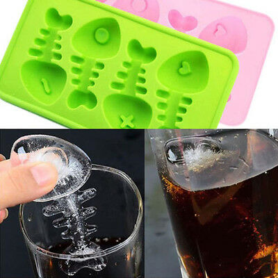 Silicone Fish Bone Ice Cube Tray DIY Mould Chocolate Jelly Mold