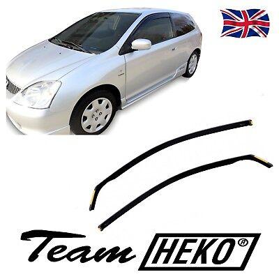 Honda Civic SPORT EP2 3Door 2001- 2005 SUN SHADE + wind deflectors 2pcs HEKO