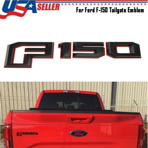 2015-2018 Ford F-150 Rear Tailgate Emblem Nameplate Red Black OEM GL3Z-9942528-A