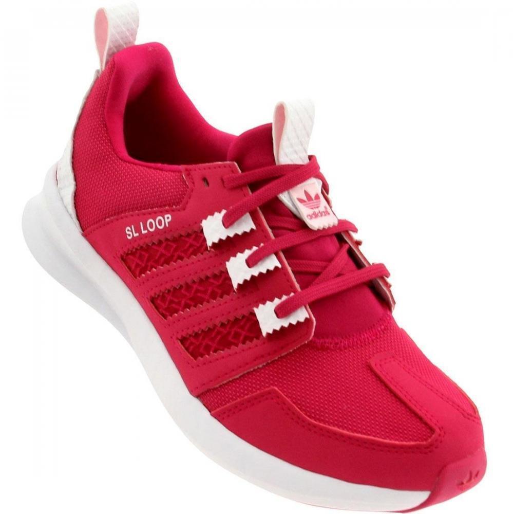 adidas Rózsaszín Lányok futás trénerek SL Loop B fokozatú gyermek sportcipők
