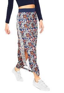 ADIDAS-Originals-FARM-Cirandeira-Floral-3-Stripe-Split-Maxi-Skirt-XS-S-M-L