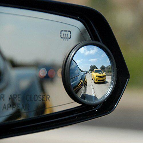 2 Pack convesso Blind Spot Specchio Specchi Traino Inversione Di Guida Autoadesivo
