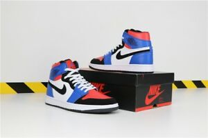 d68737d1727 Nike Air Jordan 1 Mid Top 3 White Black Hyper Royal Red Size 12 Mens ...