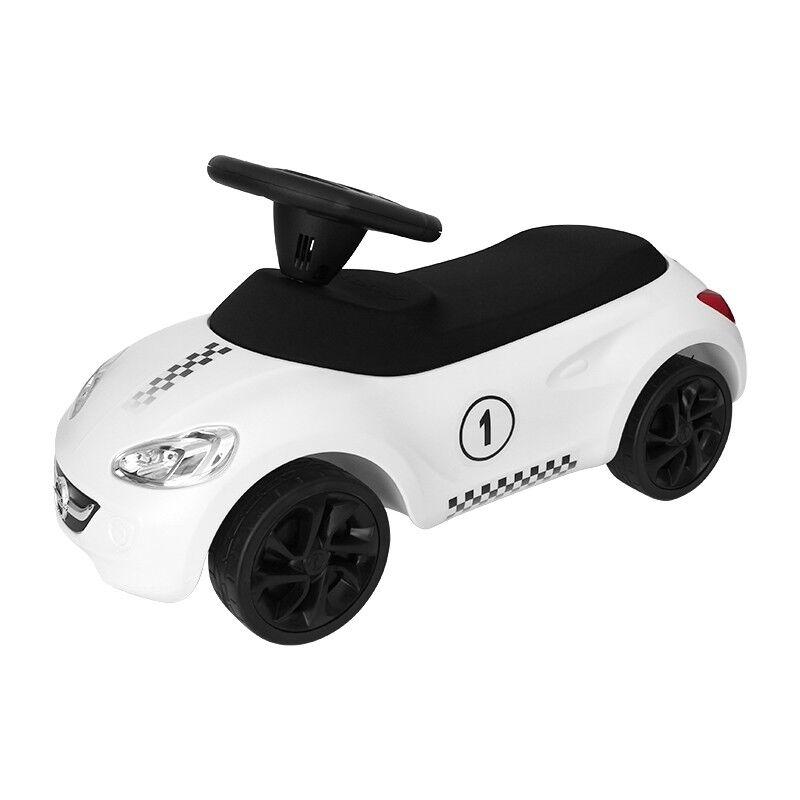 Original Opel Little Adam Rutscherfahrzeug Rutschauto Bobby Car Motorsport Weiß