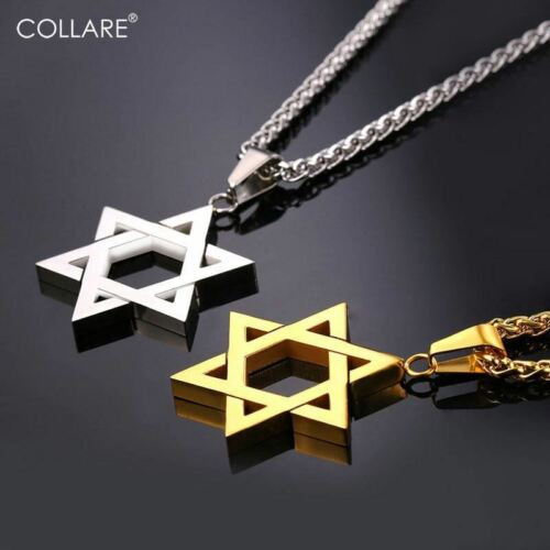 Collare Magen Star Of David Pendant Israel Chain Necklace Women Stainless Steel