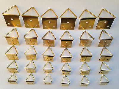 20 petites laiton plaqué cadre photo d anneaux suspendus crochets crochet miroir