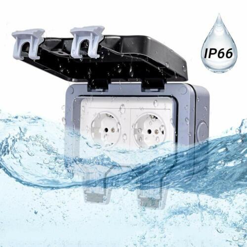 IP66 Wandsteckdose Für Den Außenbereich Wasserdicht/&staubdicht Steckdose 13A DE