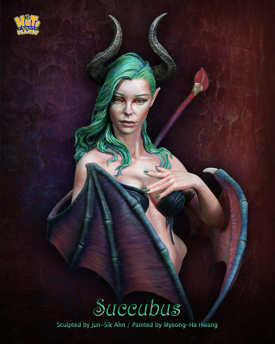 Nutsplanet Succubus Unpainted 1 12th scale bust kit