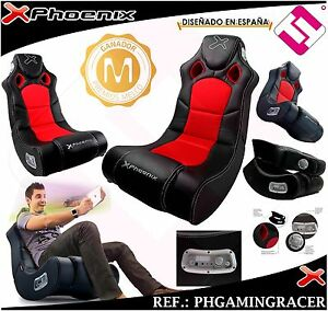 Armchair Sofa Phoenix Gaming Racer Black System Sound 2 1
