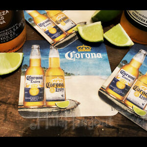 Corona Extra Corona Light Tropical Drink Coasters Set. Brand New. -Free Shipping