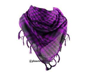 0a1157fe66e Image is loading Purple-and-black-keffiyeh-cheche-scarf-palestine-flag-