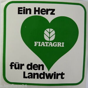 Promotional Stickers Fiatagri A Heart for The Landwirt 80er Fiat Tractor Builder