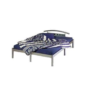 Metallbett 140x200 silber  Metallbett silber - Futonbett Bett Metall 140x200 - NEU | eBay