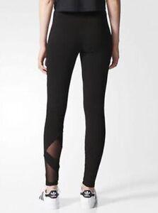 a54851a6e5e4 Image is loading Adidas-Women-Originals-EQT-Tight-Long-Pants-Black-