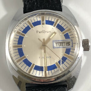 VINTAGE 7 JEWELS PENCRON WATCH UNTESTED AS IS WT1