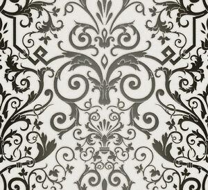 Image is loading AS-Creation-Versace-Black-White-Damask-Wallpaper-93545-