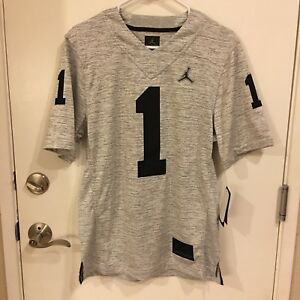 c16e89226c5 Jordan Michigan Wolverines #1 Gridiron Gray 2.0 Limited Jersey Men's ...