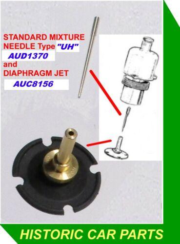 "JET ASSY /& CV NEEDLE for HD8 2"" SU Carbs on Austin Healey 3000 Mk3 BJ8 1964-68"