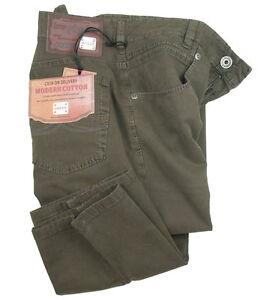JOKER-Jeans-Freddy-Brun-Olive-en-DOUX-gabardine-avec-stretch