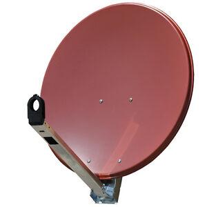 Gibertini-85cm-OP-PL-Antenne-Spiegel-Aluminium-Alu-Schuessel-Ziegelrot-Original