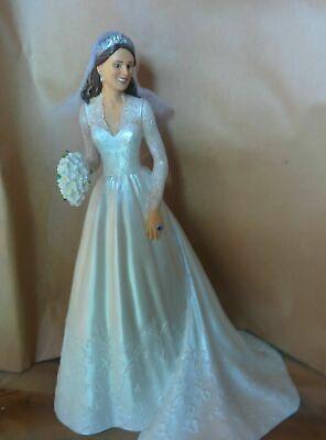Princess Catherine  Bride Ornament Lady Figurine Bradford Exchange