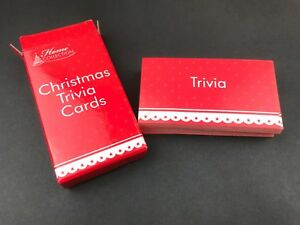 Christmas Xmas Party Trivia Cards Games