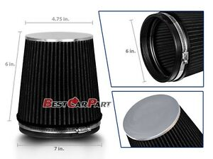 Black Short 6 Quot 152mm Inlet Truck Air Intake Cone