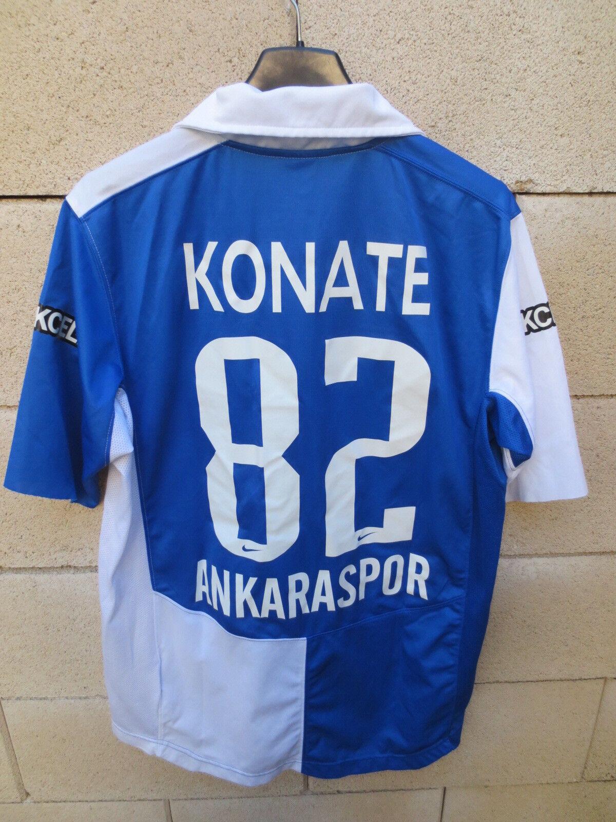 Maillot ANKARASPOR porté KONATE n°82 Turquie Turkey NIKE match worn shirt rare