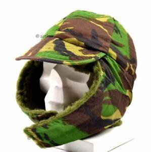 Details about Original Genuine British army military Winter hat  DPM camo  british army cap