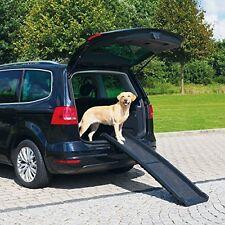 Plegable Perro Rampa Pet coche van ligero Bi Fold Gear Viajes Transporte Plástico S