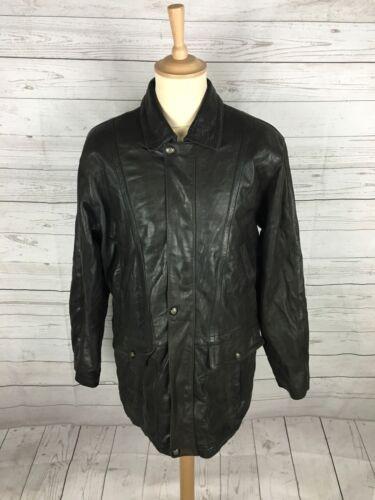 """Vintage pour homme lakeland veste en cuir-petit 38"""" - noir-très bon état"""
