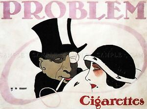 COMMERCIAL-ADVERT-PROBLEM-CIGARETTES-GERMANY-POSTER-ART-PRINT-PICTURE-BB1997A