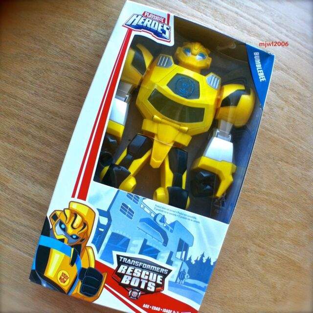 "Transformers RESCUE BOTS Epic BUMBLEBEE 10"" Playskool Heroes Limited Articulatio"