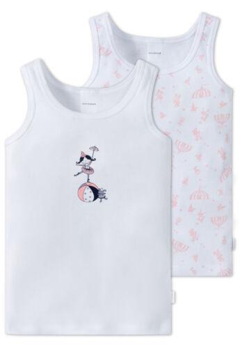 Schiesser Set Doppelpack Unterhemd Mädchen Zirkus Baumwolle NEU