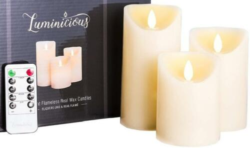 Flameless Candles Battery Operated Led Flickering Flame With Remote  TimerAm