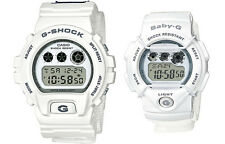 CASIO LOV-16C-7 Lover's Pair Watch '16 Digital White Nylon Cloth Limited Edition