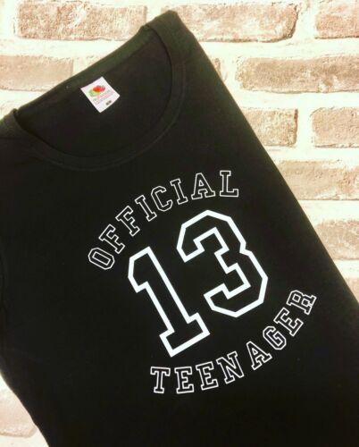 Official Teenager 13 Birthday T-shirt Cheer Dance Cheerleading  Gymnastics