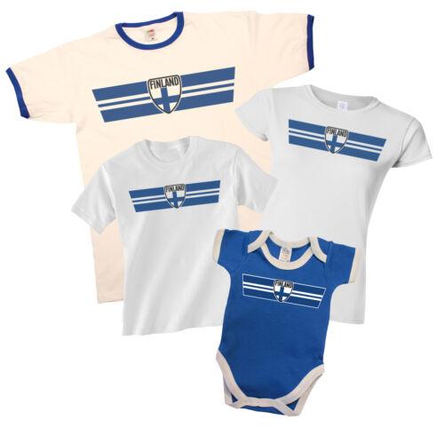 La finlande patriotique rétro bande t-shirt choix de homme femme enfants baby grow *