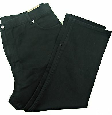 """BNWT M/&S Classic Black Cord Standard Rise Straight Jeans Trousers 22 Short 27.5/"""""""