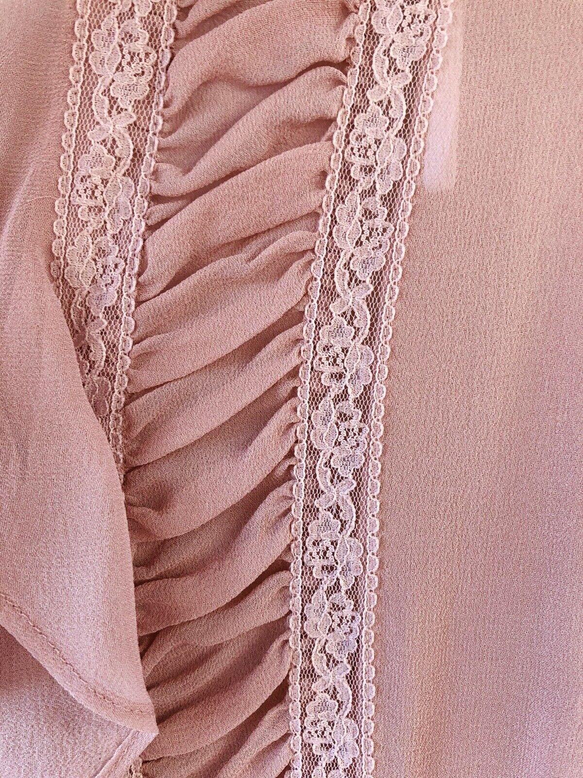 Vintage Stunning Jones Wear Silk Sheer Dusty Lila… - image 5