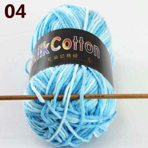 AIP New 1Skeinx50gr Soft DK Baby Cotton Crochet Yarn Hand Wool Scarf Knitting 04