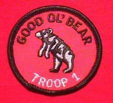 GOOD OL BEAR Round Patrol Patch Wood Badge Course Cub Boy Scout beads BSA
