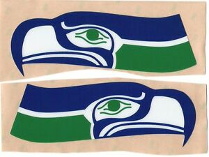 new concept 5635d a3736 Details about Seattle Seahawks THROWBACK FULL SIZE FOOTBALL HELMET DECALS