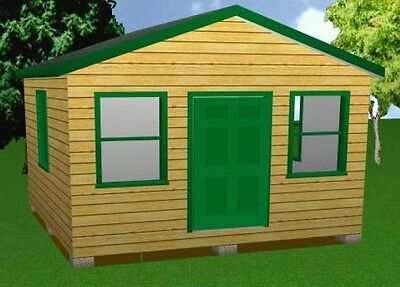 10x16 Storage Shed Plans Package Blueprints Material List /& Instructions