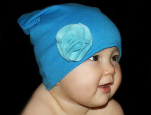 BEANIE CAP HAT FOR BABY TODDLER GIRL SOFT COLORFUL COTTON WITH FLOWER CUTE