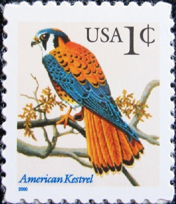 2000 1c American Kestrel Scott 3031a Mint F/VF NH