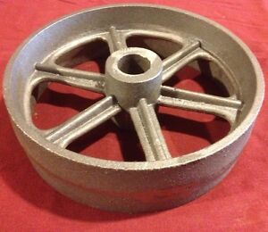 8 Inch Hit Miss Gas Engine Flywheel Engine Cart Wheel Cast Iron
